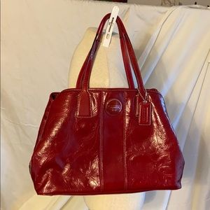 Red Patent Leather Authentic Coach Purse